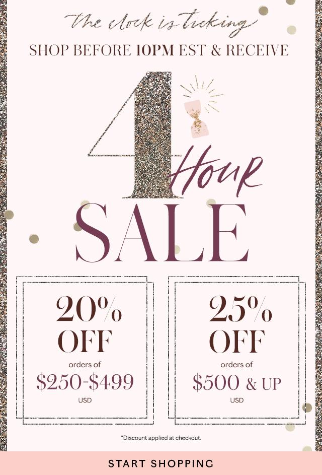 Shop the Four Hour Sale!