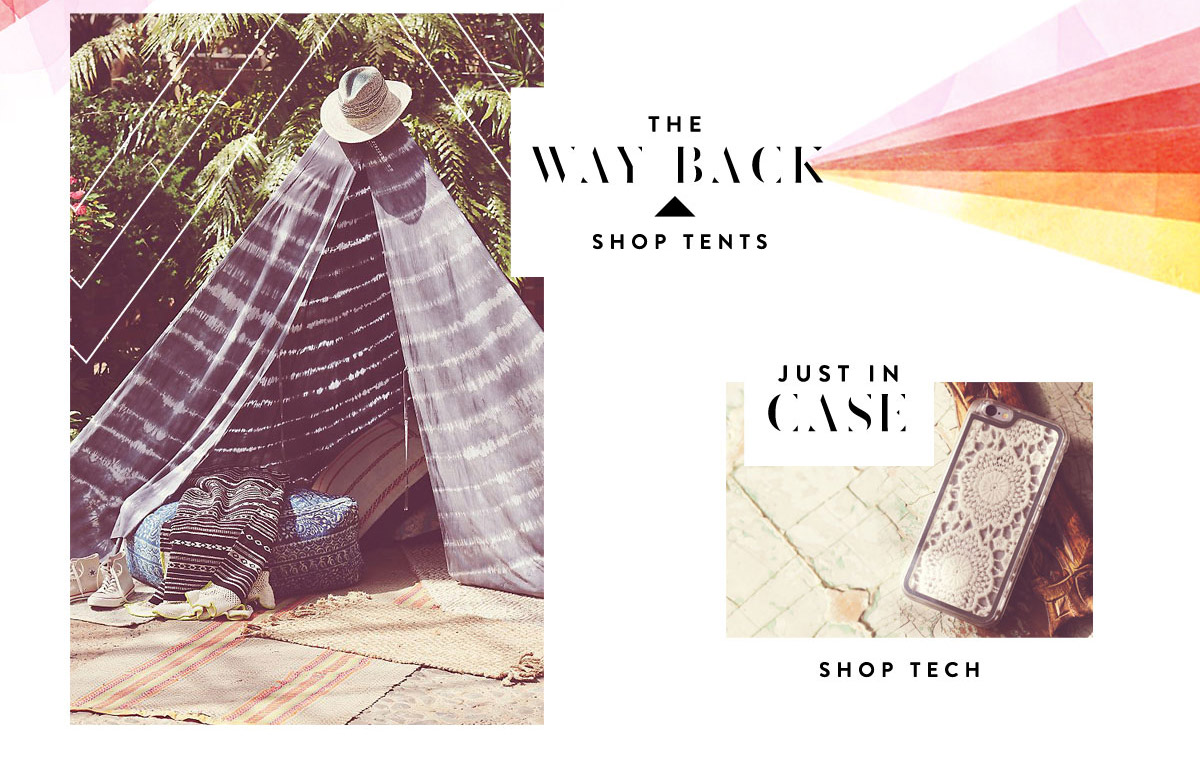 The Way Back: Tipi-style festival tent. Shop Tents.